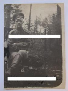 Удостоверение личности 1916 г 448 Фатежский полк Автограф командира корниловца