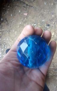 Синий шар с огранкой