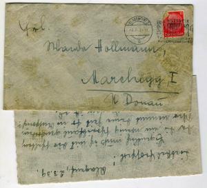 Немецкое письмо с конвертом и маркой 3.3.39 (п19)