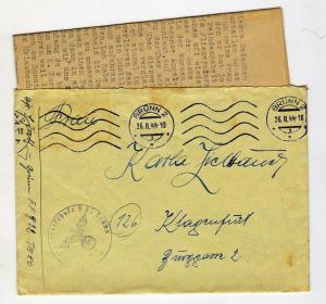 Немецкое письмо с конвертом 26.11.44 (п16)