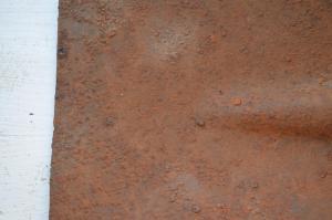 Квадратная лопатка с тремя клеймами.
