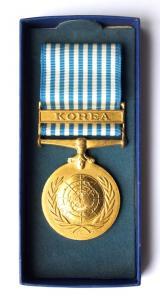 "Медаль ""За службу ООН в Корее""."
