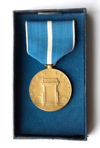 """США. Медаль """"За службу в Корее""""."""