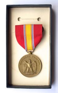 """США. Медаль """"За службу в национальной обороне""""."""