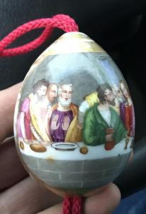 Пасхальное яйцо Тайное вечере.