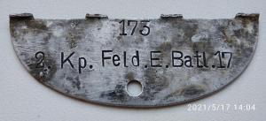 2. Kp. Feld. E. Btl. 17