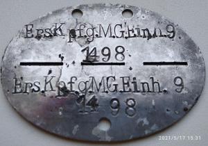 Ers. Kp. f.g. M.G.Einh. 9 Рота смешанных пулемётов 9-го запасного полка