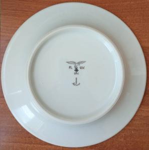 тарелка клеймо Kolmar, Luftwaffe 1941