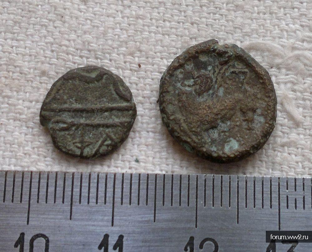 Две маленькие монетки из Анапской
