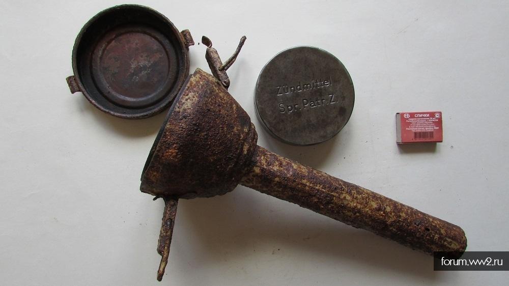 Sprg.Patr.Z.(тубус для подрыва оруд.стволов)+баночка от Zündmittel Spr.Patr.Z