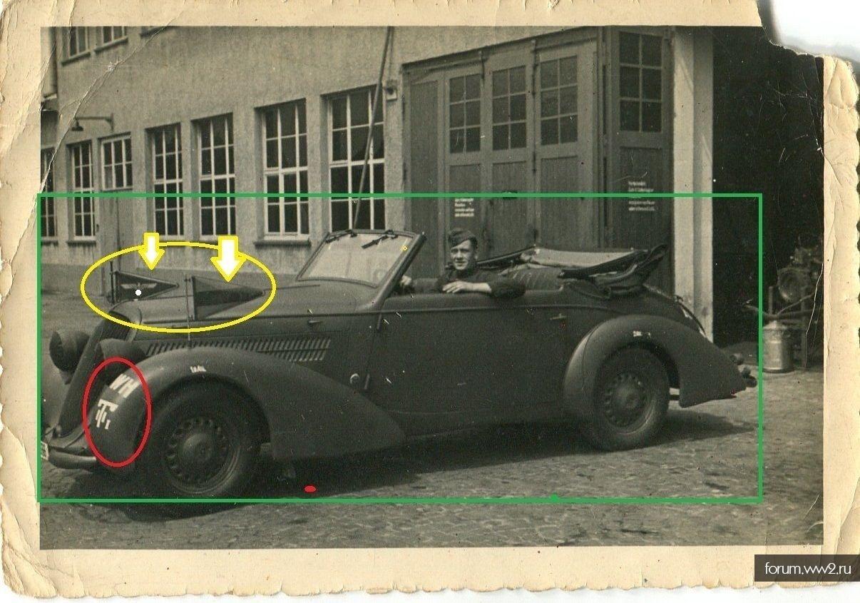 Тактические указатели (Kommandoflaggen/Stabsflaggen) и автофлажки.