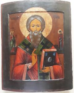 Икона Святой Целитель Священномученик Антипа Пергамский 19 век