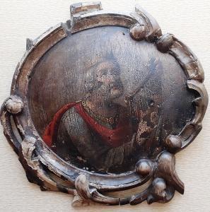 Икона Святой Пророк и Царь Давид 18 век, резьба письмо
