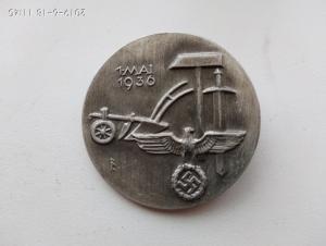 Значок 1 мая 1936 г.
