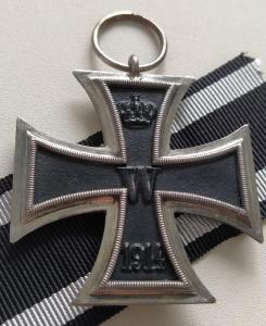 "Железный крест 2 класса 1914, клеймо ""IW"". Минт! (2)"