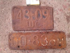 Воинские номерные А/М знаки 70х годов
