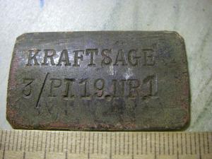 бирка (жетон) KRAFTSACE