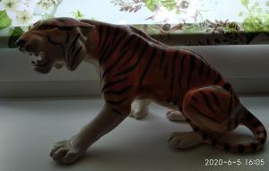 Скульптура Тигр. Шерхан. Стройфаянс.