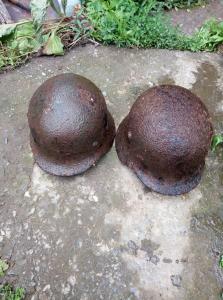 немецкие каски .сталинградские