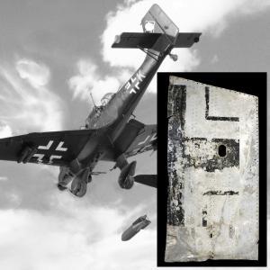 Фрагмент крыла немецкого самолета Ju-87D-1 Stuka, погибшего в 1942 году