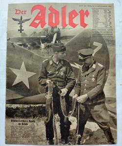 Журналы Der Adler №22 ноябрь 1941