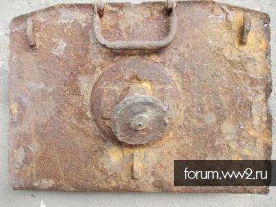 Плита немецкого 81 мм.миномета s.Gr.W.34