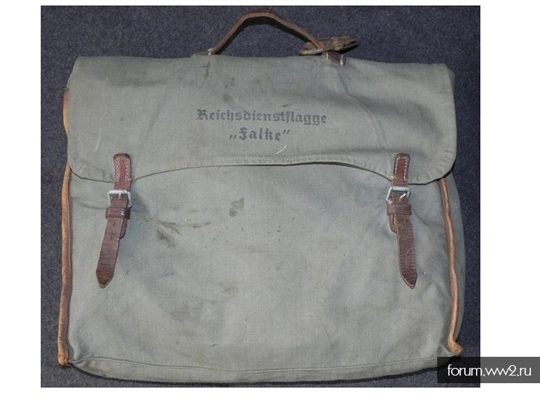 """Вещевая сумка с надписью Reichsdienstflagge """"Falke"""""""