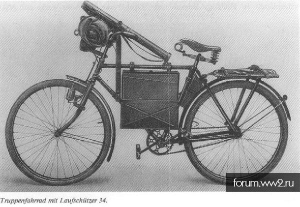 Крепление тубуса MG к велосипеду