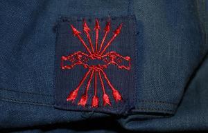 Нашивка добровольца-фалангиста Синей Дивизии