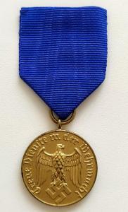 """Медаль """"За выслугу 12 лет в Вермахте"""". Минт!"""