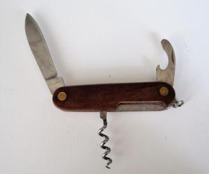 перочинный ножик с деревянными накладками