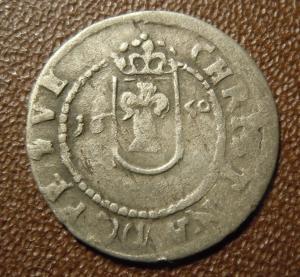 1 эре 1650 г. Ревель под шведами.Серебро.Редкая.