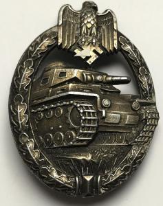 Танковый знак, в бронзе