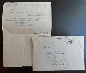 Немецкое сопров. письмо G.J.R 138 п/п 04754 (M4)