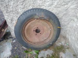 Пара колес к минометной тележке