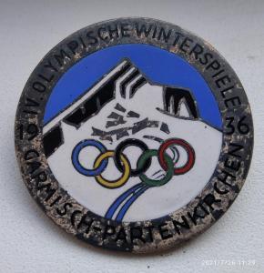 Памятный знак зимних олимпийских игр 1936 года Гармиш-Партенкирхен 35 мм