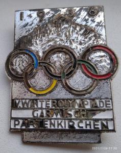 Памятный знак IV зимние Олимпийские игры. Гармиш-Партенкирхен 1936  г.