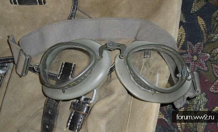 """Фляга, ботинки, очки лётно-мотоциклетные """"лисички"""", складской сохран"""