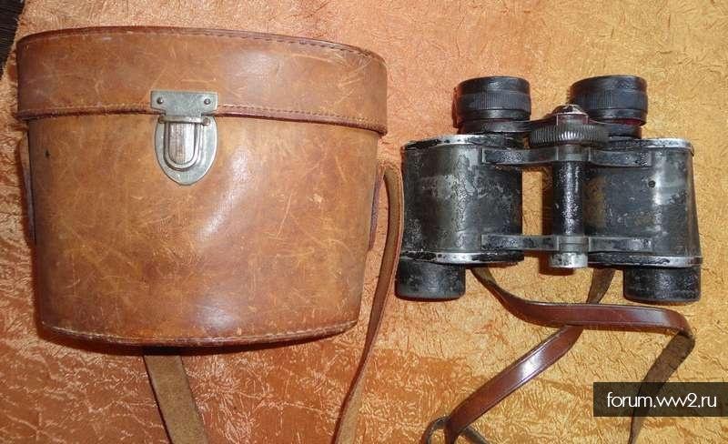 Бинокль Европейского производства, 30-50е годы, с кофром, оптика полностью рабочая, без изъянов