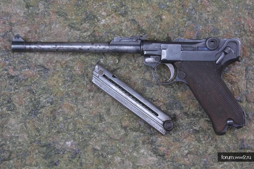 ММГ пистолета Luger Parabellum P-08, артиллерийская модель.