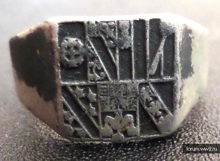 Гербовое кольцо на атрибуцию