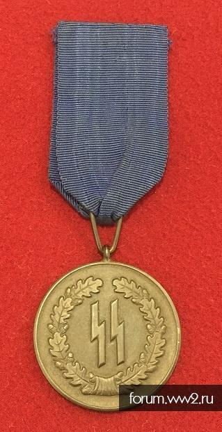 """медаль """"За 4 года службы в СС"""""""