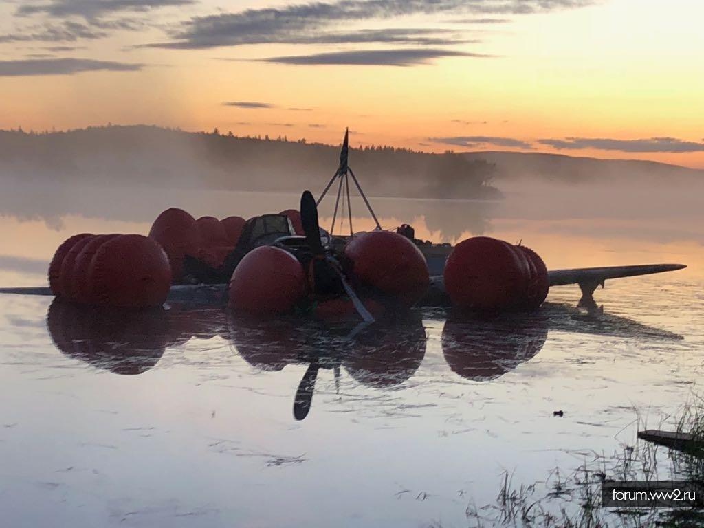Из озера Кулонга подняли Ил-2