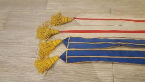 Ленты наград от знамени с кистями.