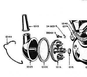 Две бакелитовые детали
