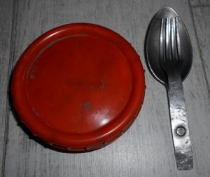 ложко-вилка и жировница(нерж.)