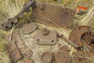 Т-34, опознание деталей с места подрыва