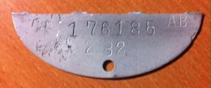 Цифровой жетон 176 185