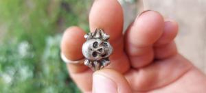 Кольцо череп с