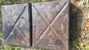ящик от минометных мин 50-мм есть косеки крепкий 2 небольшие дырочки искалзяций осколочнй